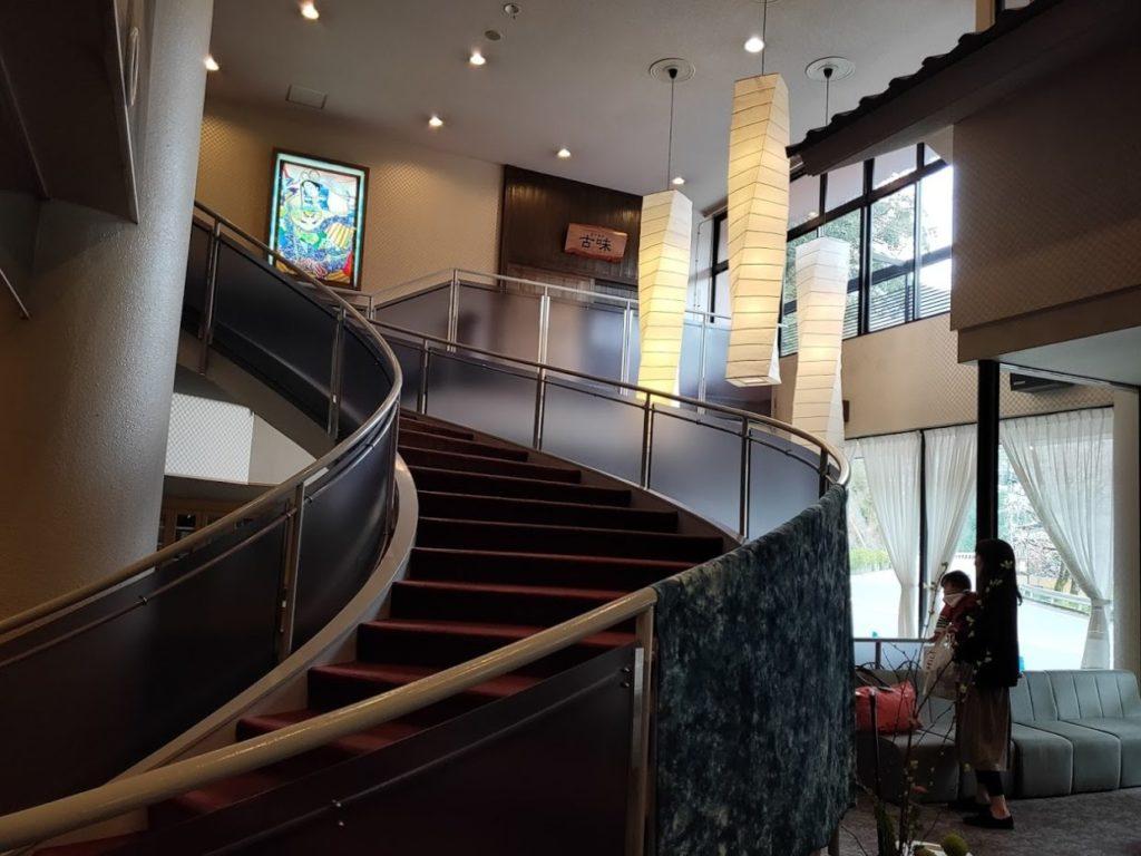 新祖谷温泉ホテルかずら橋のホテルロビー