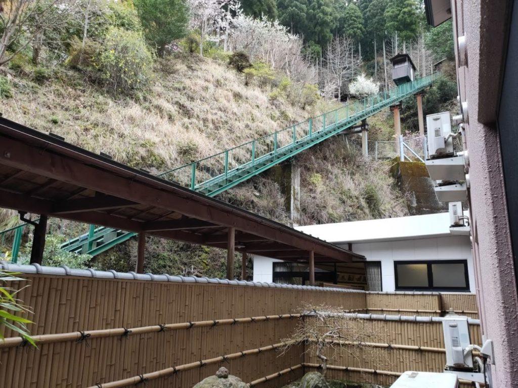新祖谷温泉ホテルかずら橋のケーブルカー