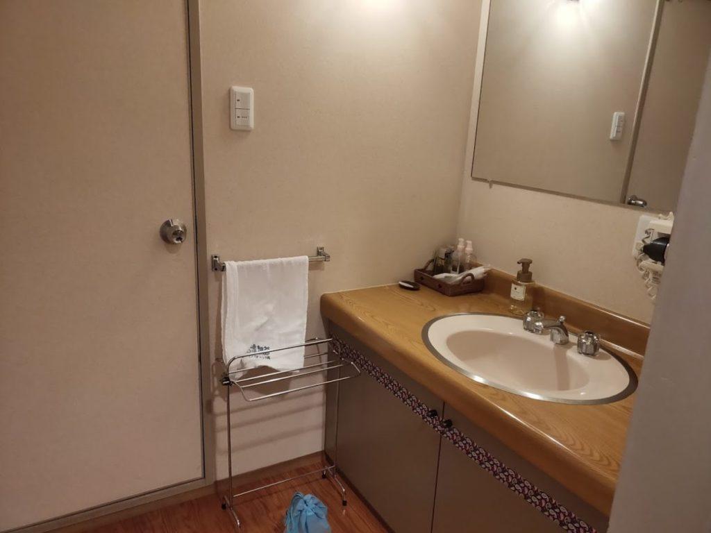 新祖谷温泉ホテルかずら橋の洗面所