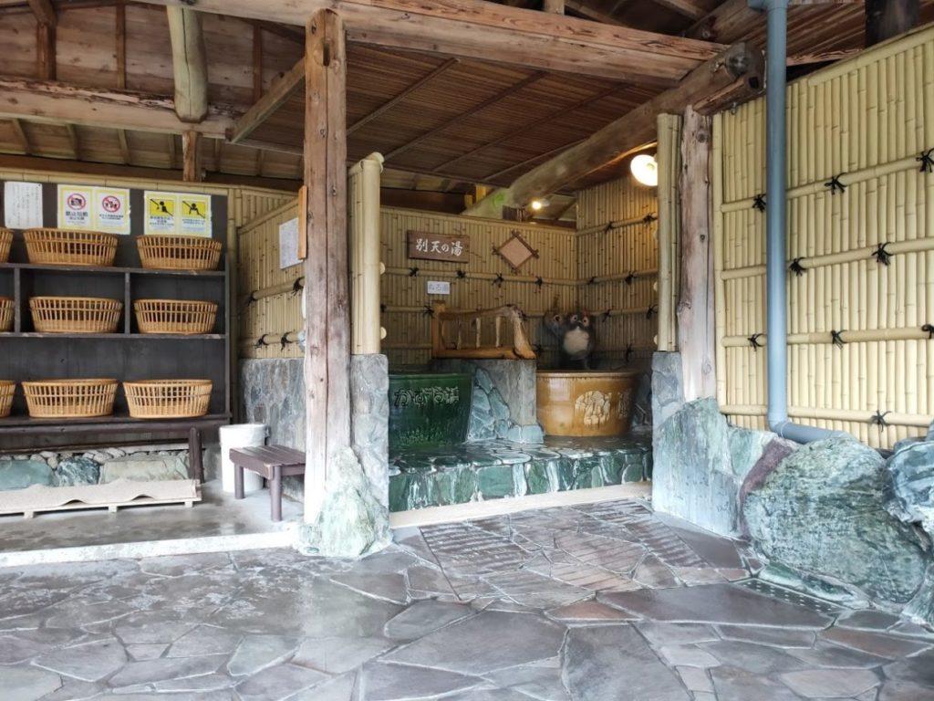新祖谷温泉ホテルかずら橋の露天と横の風呂