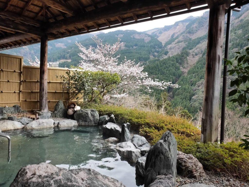 新祖谷温泉ホテルかずら橋の露天の良い景色