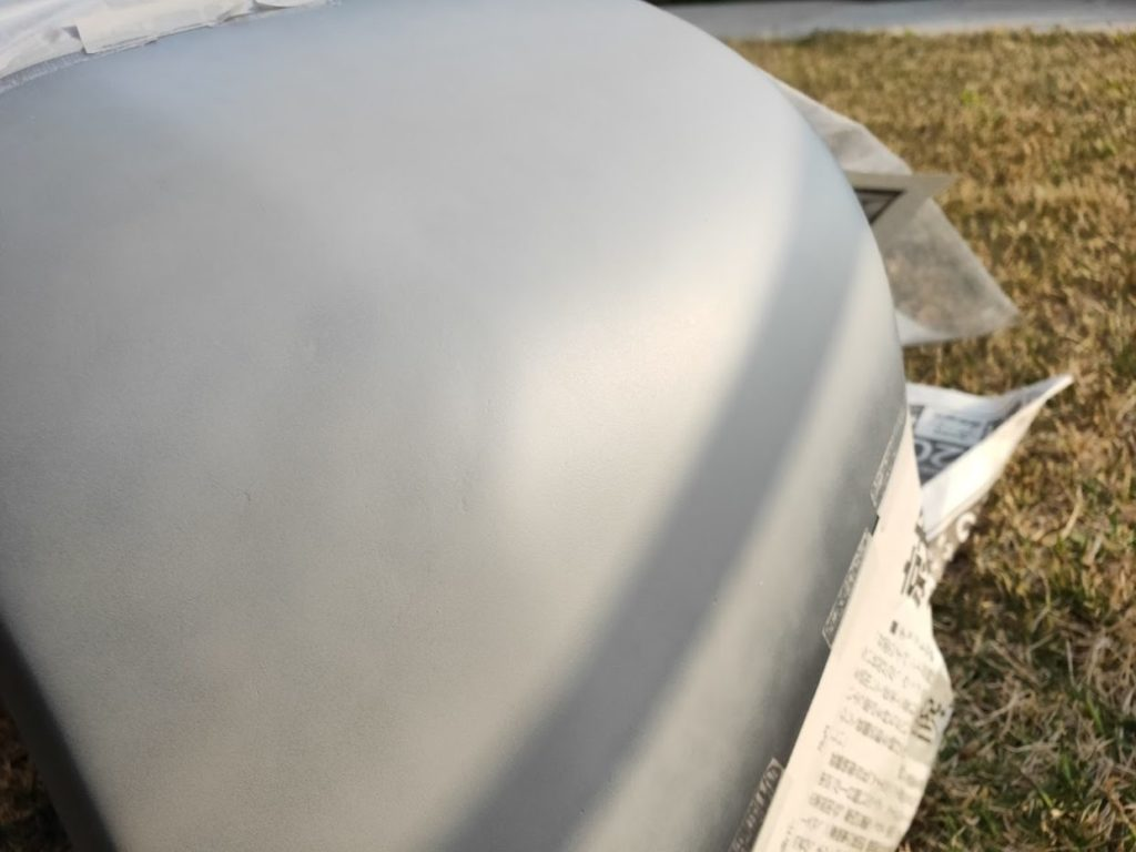 ハイエースバンパー塗装プラサフ4