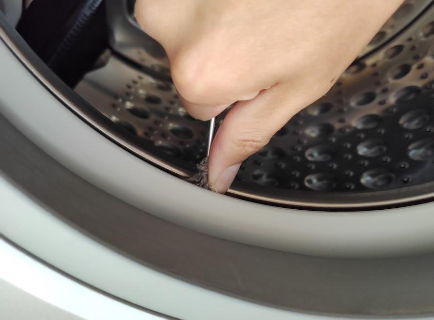 パナソニック洗濯乾燥機のゴミ取り方1