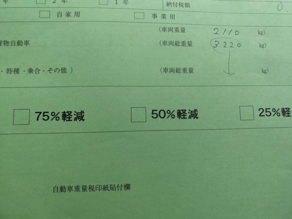 ハイエース車検当日の受付簿記入ミス