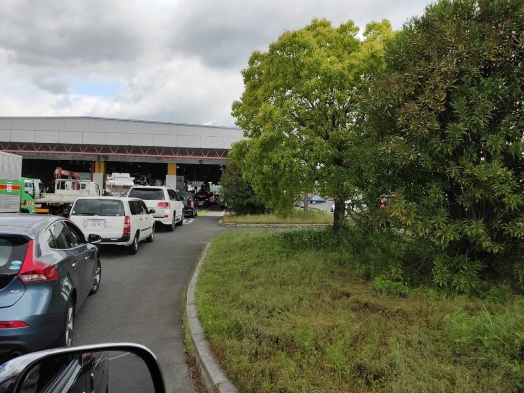 ハイエース車検当日の検査場の行列