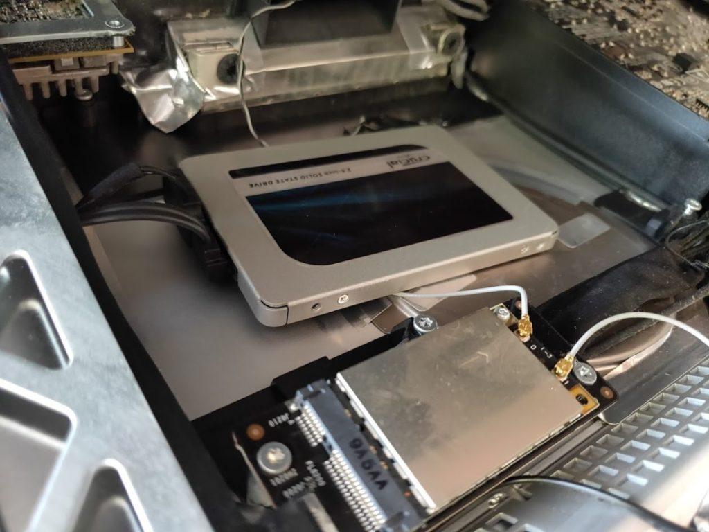 マイimacのHDD交換SSDを入れ替え