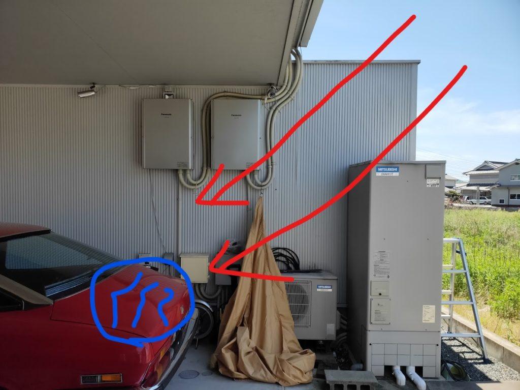 ホームタープ家の駐車場雨問題