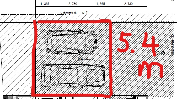 ホームタープ駐車場の図面情報