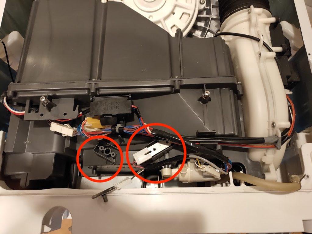 パナソニック洗濯洗濯乾燥機の乾燥ボックスチェックツール外す