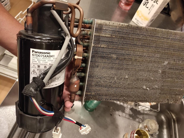 パナソニック洗濯洗濯乾燥機の乾燥ボックス内の機械詳細