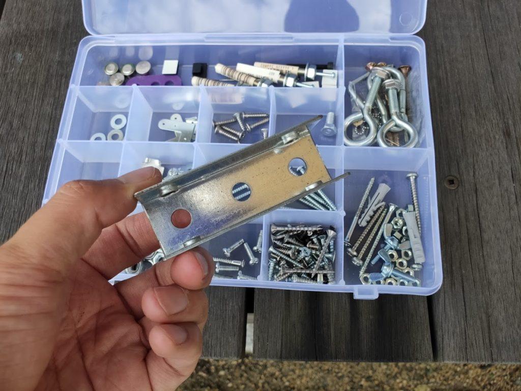 家庭用タープ取付2箇所目の設置金具選定1