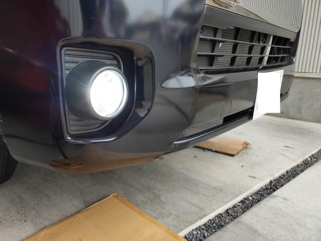 ハイエースポジションランプの新しいランプの点灯チェック1