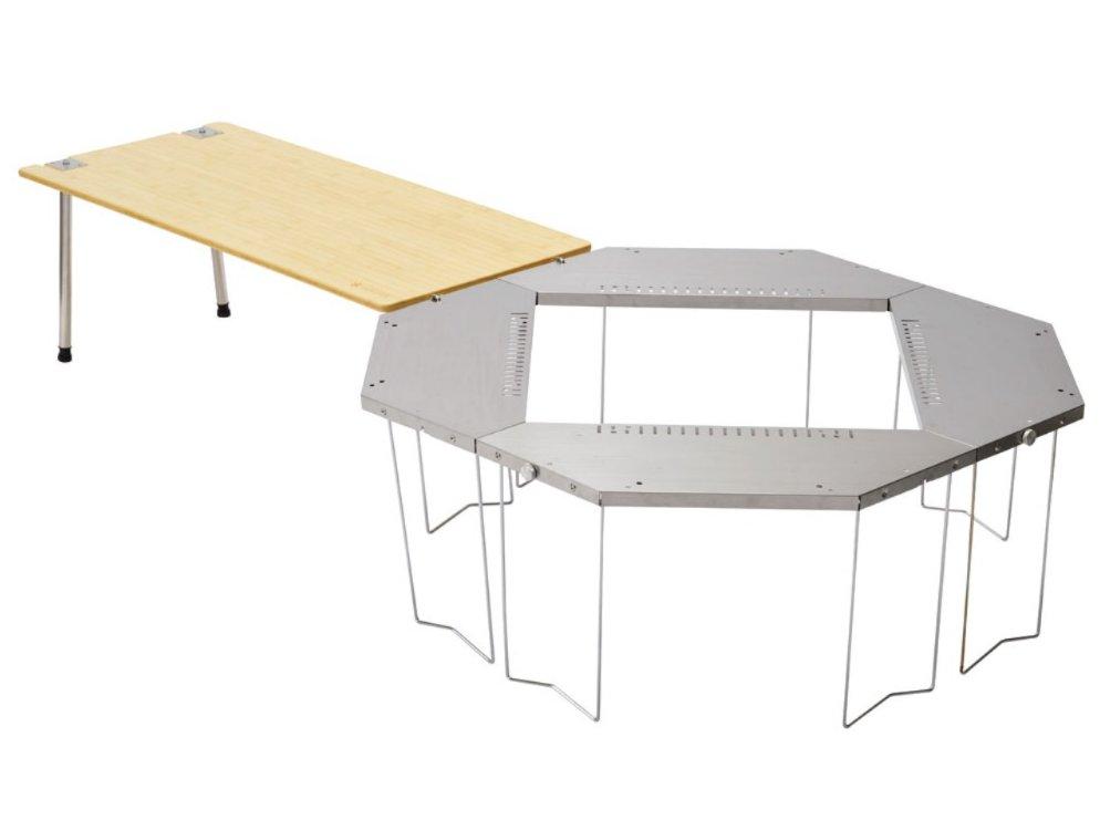 スノーピークジカロテーブル組み立て画像