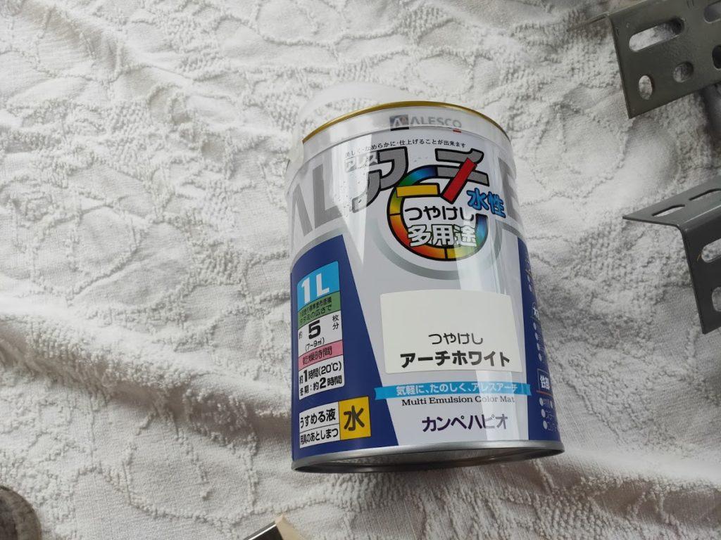 スチールラックの塗料ペンキ白の詳細