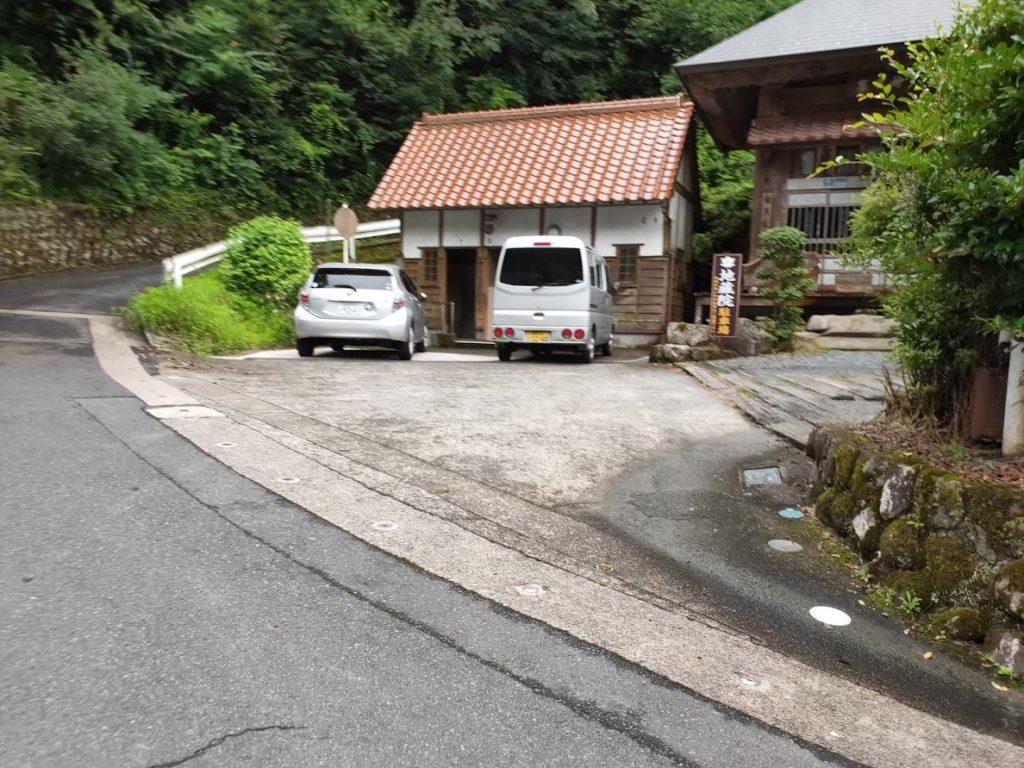 関金温泉関の湯の寺の駐車場