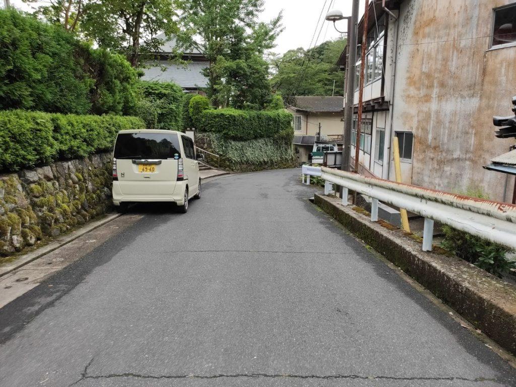 関金温泉関の湯の前の道