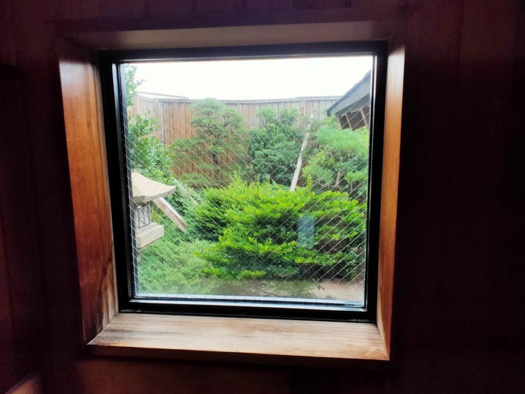 皆生温泉白扇の露天風呂サウナの窓からの景色