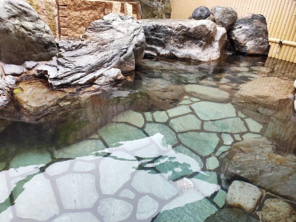 皆生温泉白扇の露天風呂の源泉4