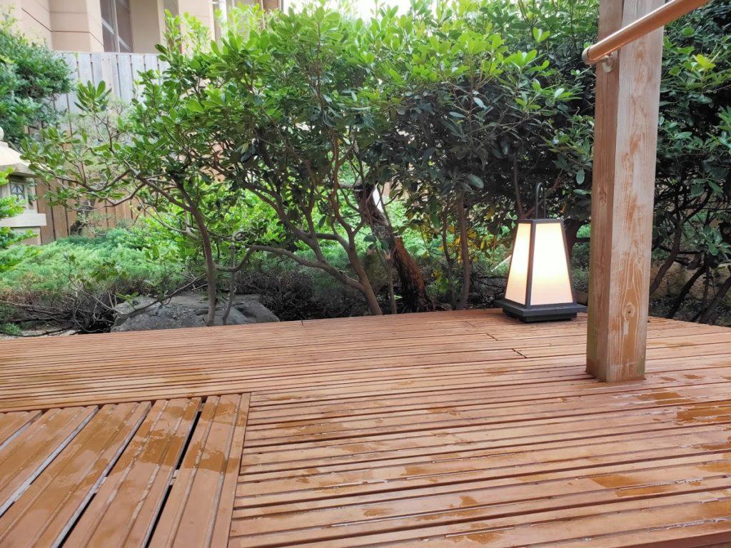 皆生温泉白扇の露天風呂の休憩場所