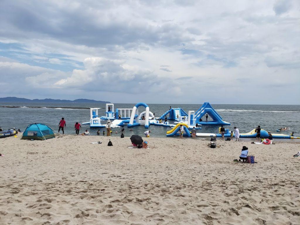 皆生温泉白扇のビーチ