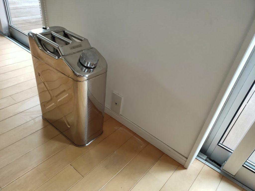 ステンレス缶の本体と室内の画像2