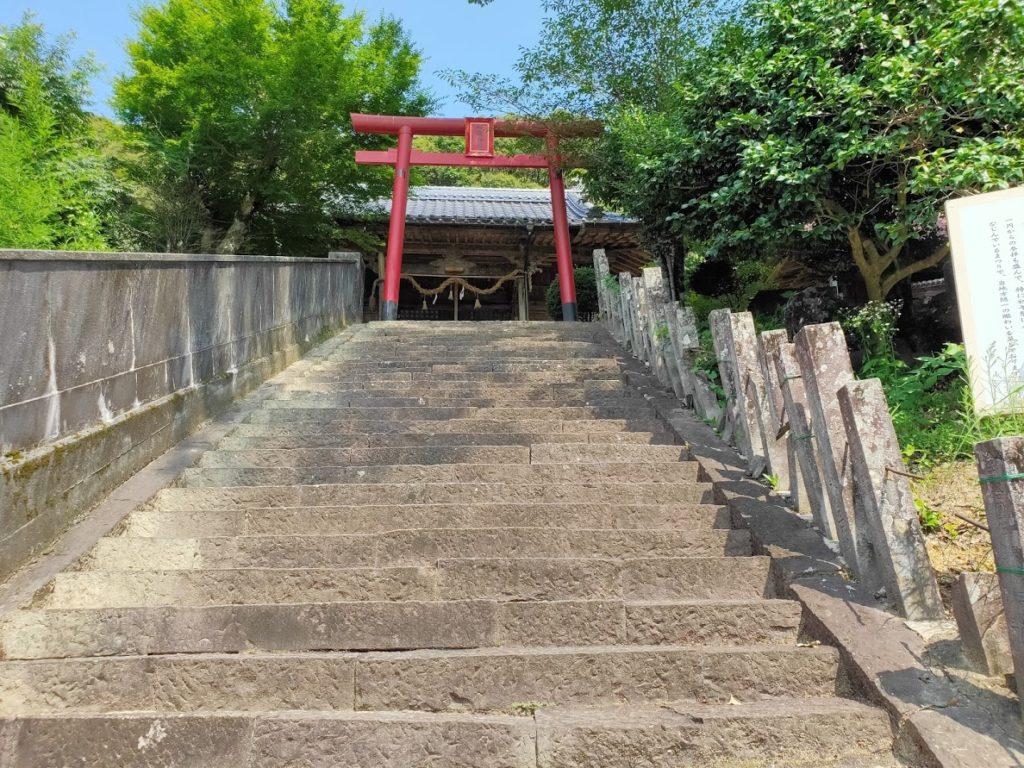 41番龍光寺の赤い鳥居