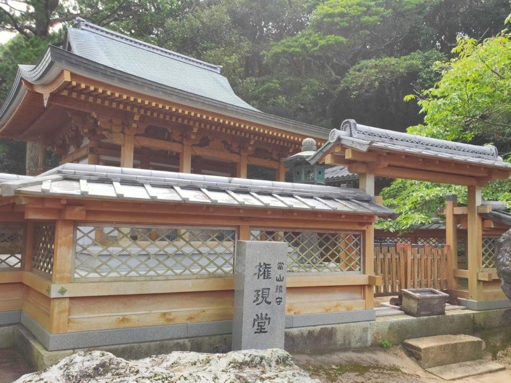 38番金剛福寺の池と権現堂