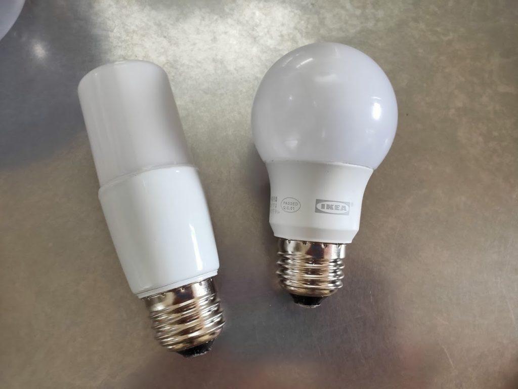 アイリスオオヤマLED電球とイケアのLED電球