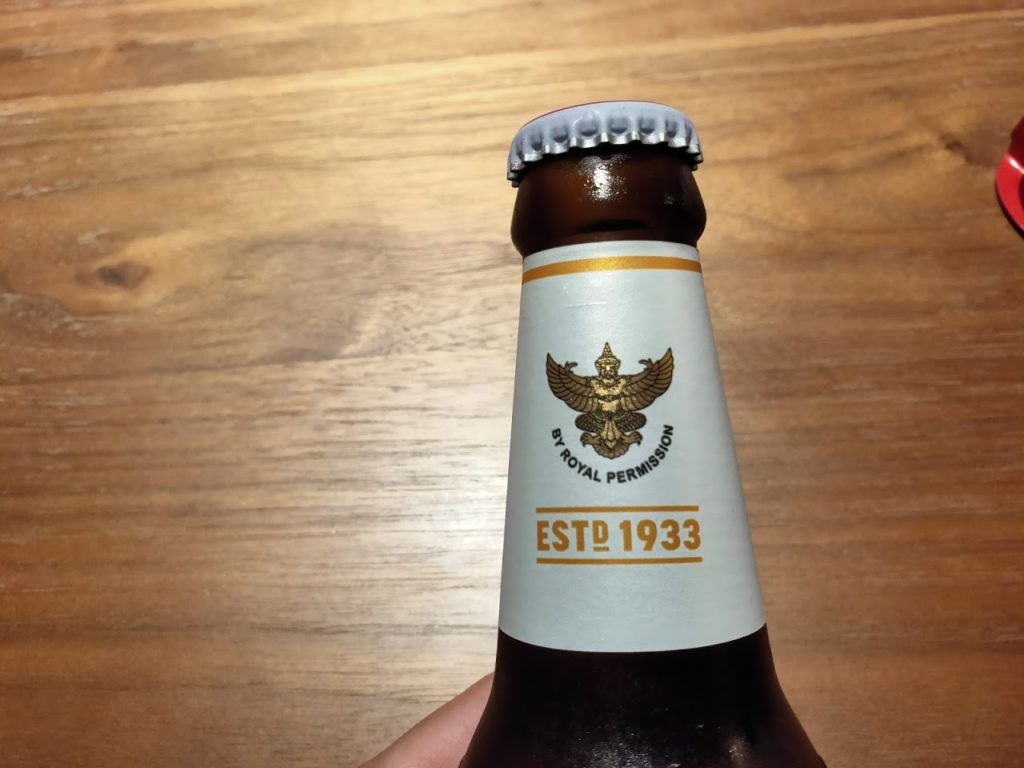 シンハービール瓶上部