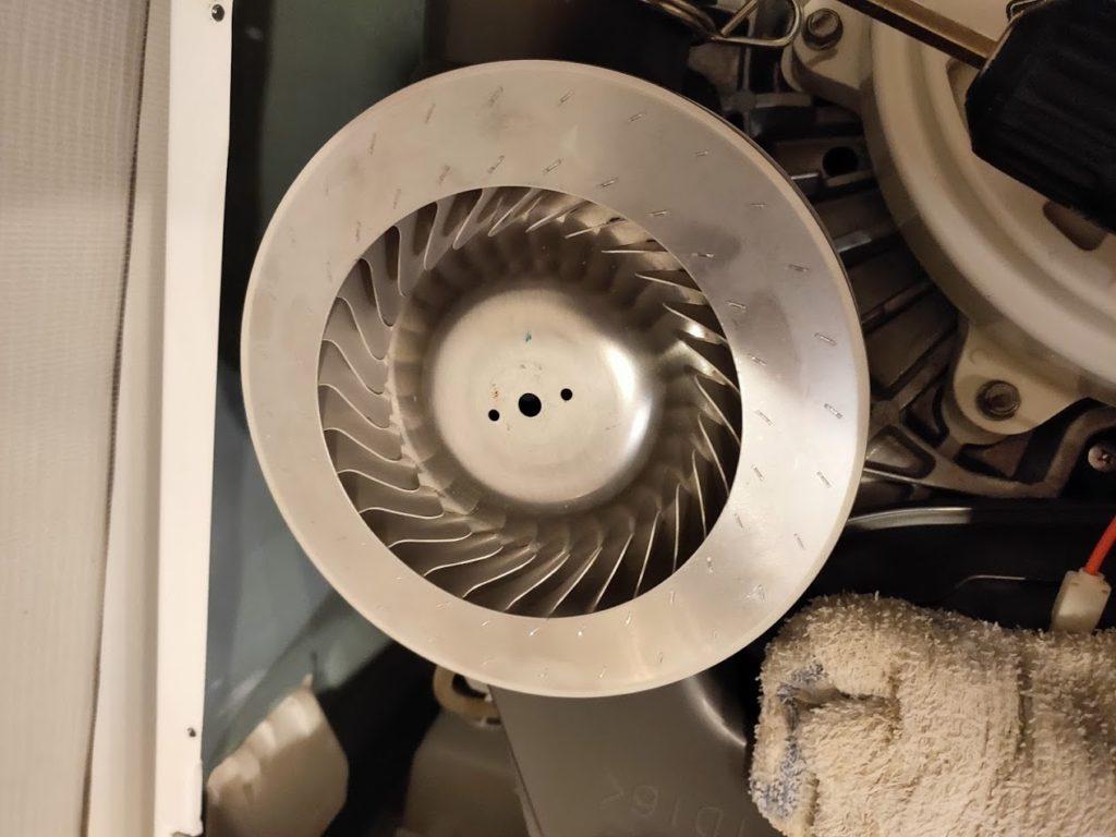 パナソニック洗濯機の送風機器