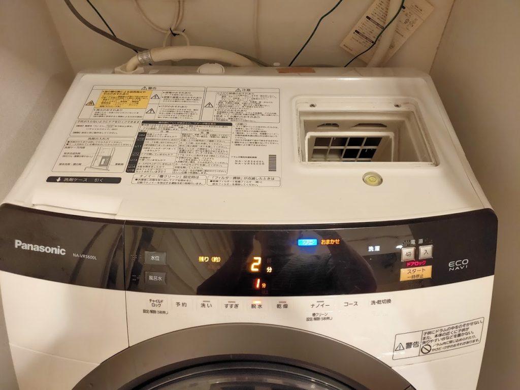 パナソニック洗濯乾燥機の交換後テスト