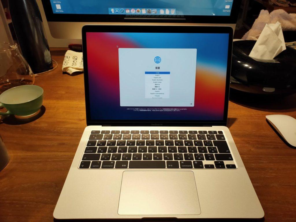 MacBookAirの本体オープン