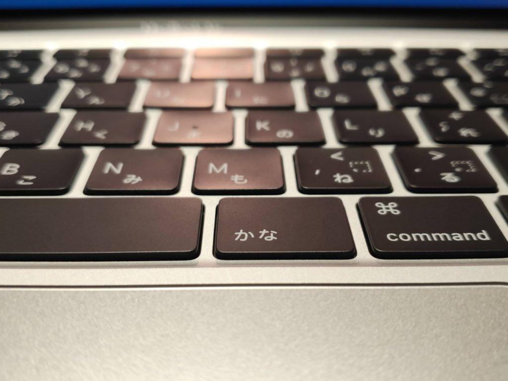 MacBookAirのキーボード詳細
