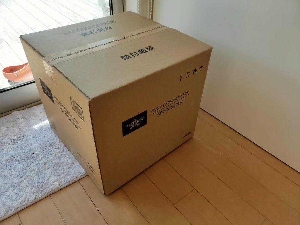 アラジントースターの外箱