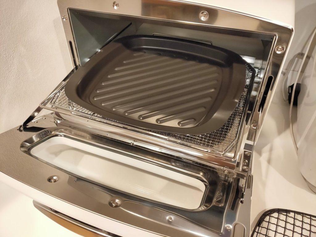 アラジントースターのグリルパン焼き