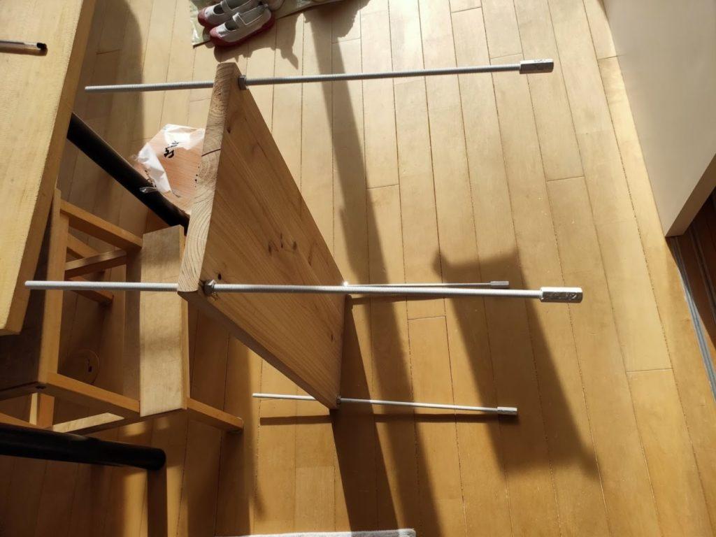 キッチンシェルフの組み立て2