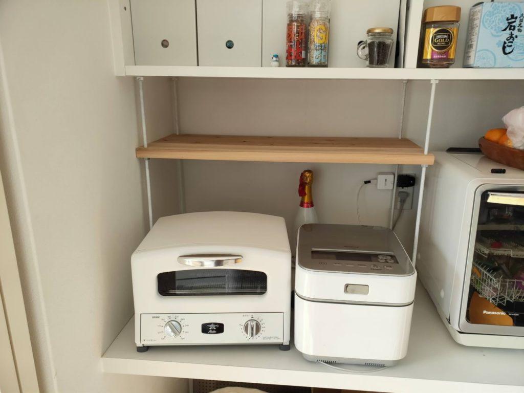 キッチンシェルフの組み立て3