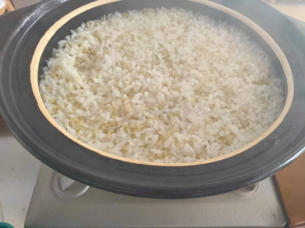 ふるさと納税2020年度の佐賀県みやき町の玄米調理3