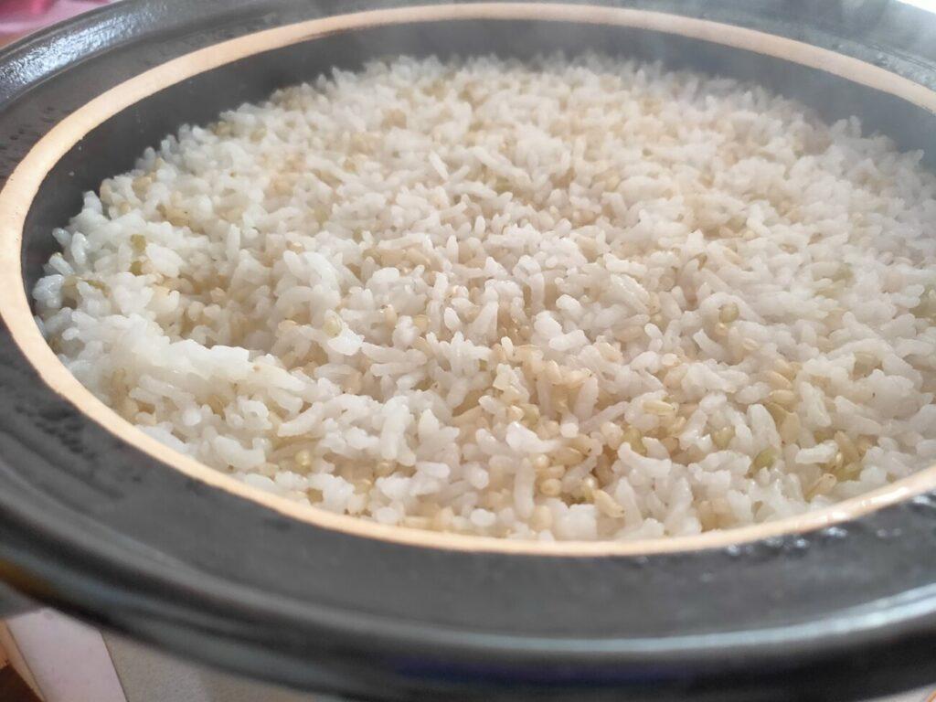 ふるさと納税2020年度の佐賀県みやき町の玄米調理4