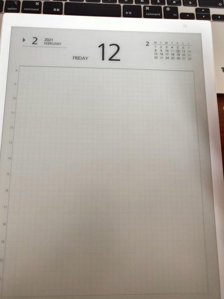 富士通QUADERNOのカレンダー1