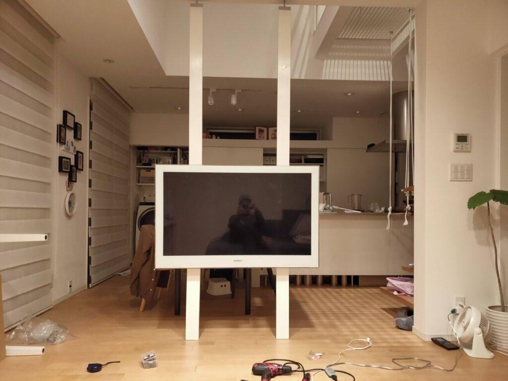 壁掛けテレビのDIYの写真1