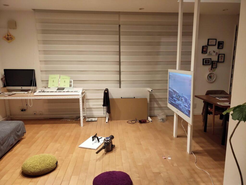 壁掛けテレビのDIYの写真2