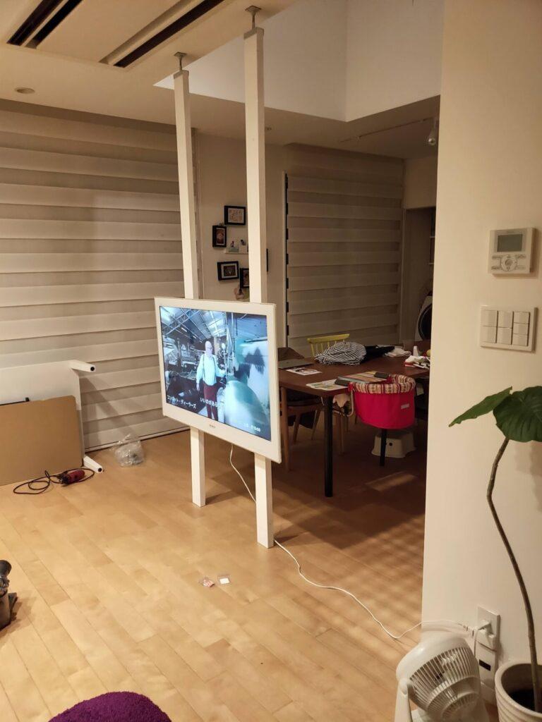 壁掛けテレビのDIYの写真3