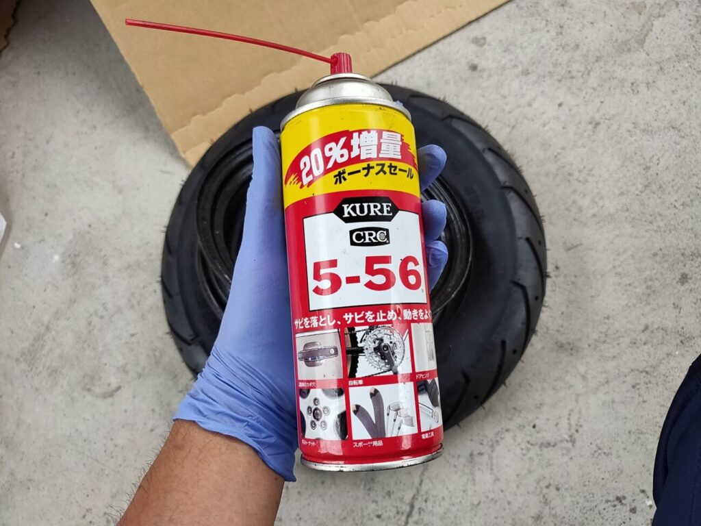 モトコンポのタイヤと潤滑剤