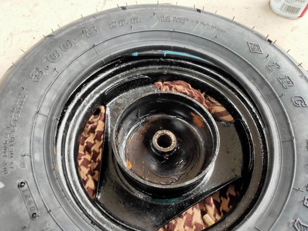 モトコンポのタイヤ表完了