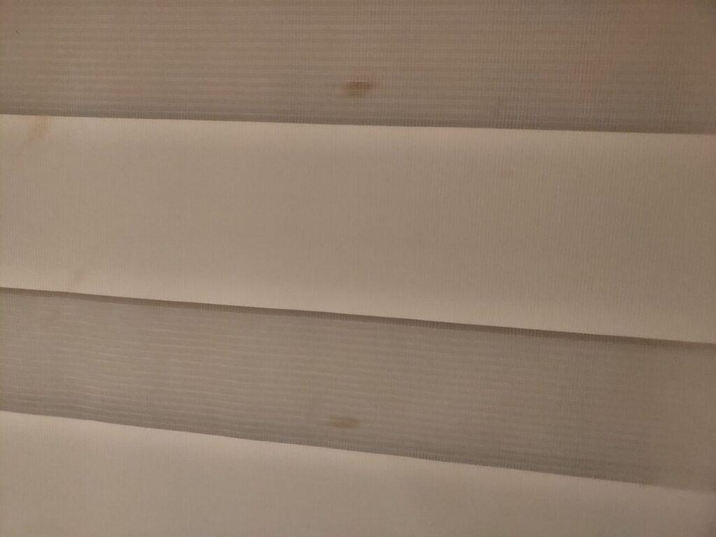 マイホームのブラインドの汚れ