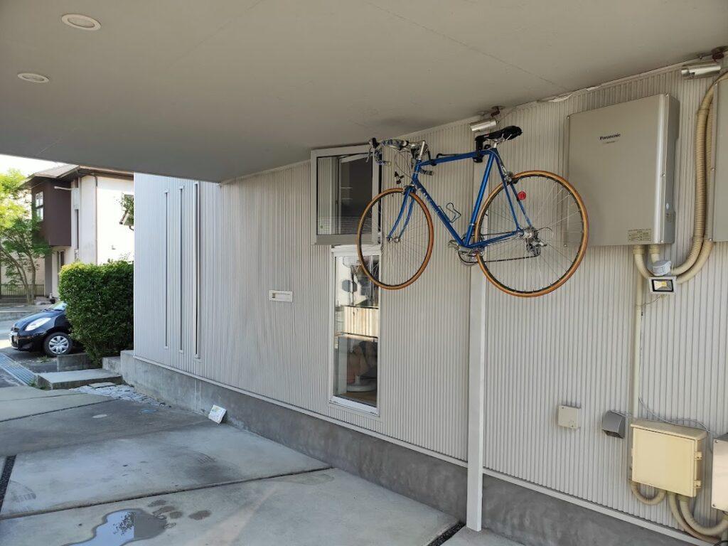 バイクハンガーの自転車設置